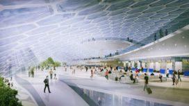 ETFE-koepel als passagiersterminal Khabarovsk Airport