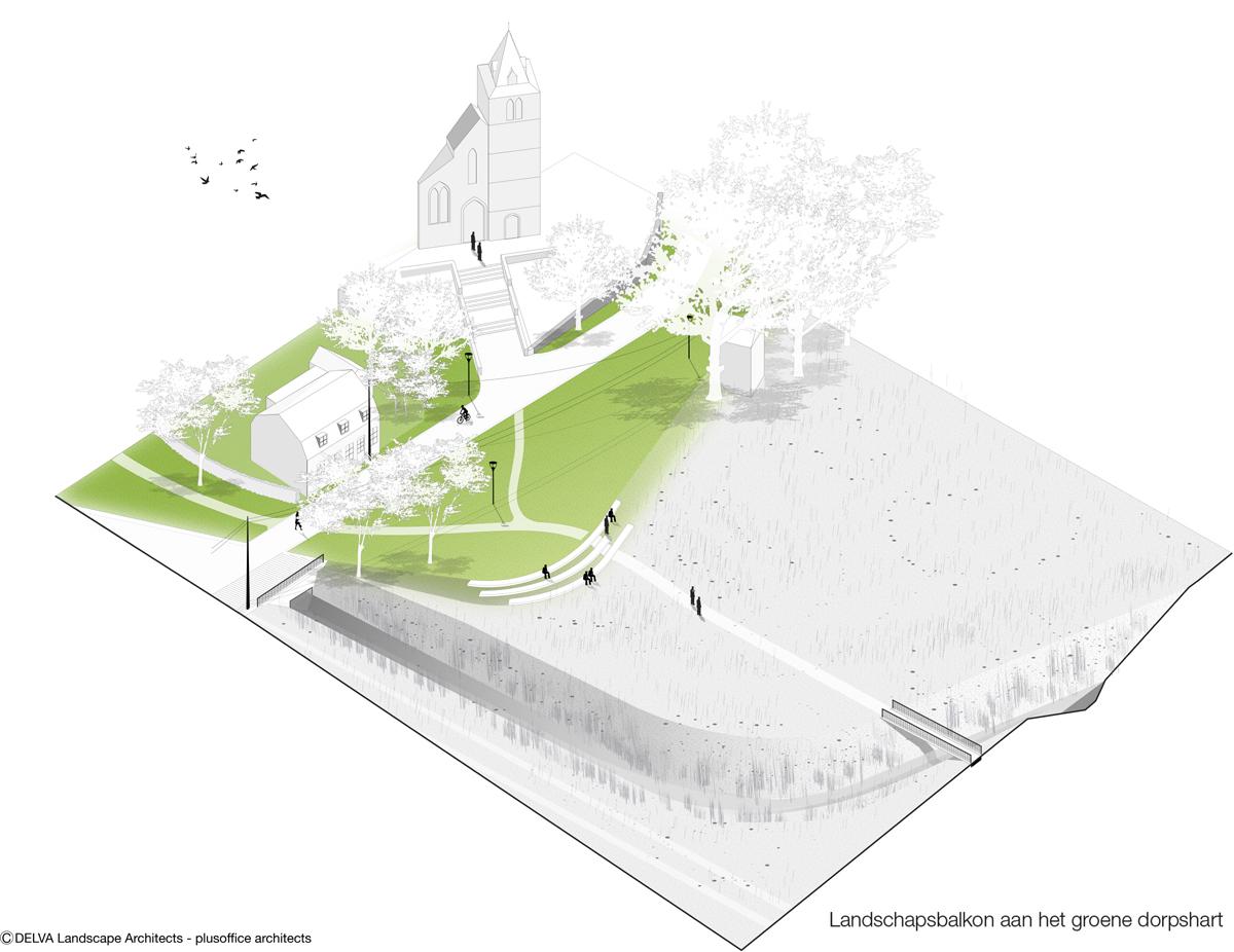 Dorpskern Spiere Delva Landscape Kerkfront
