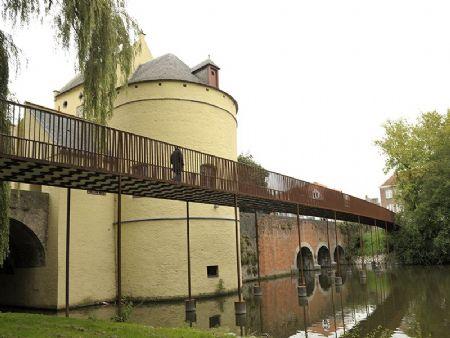 Smedenpoort voetgangersbrug Brugge Ney & Partners