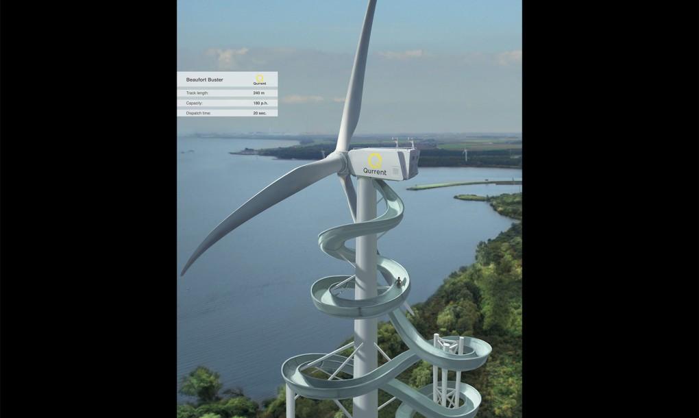 Render Ster van de Week - Ride a Windturbine