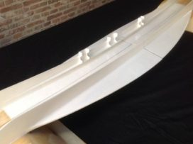 Hangende 'surfplank' van vlasvezels en biocomposiet