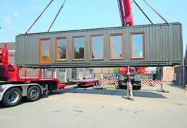 Off-grid in een omgebouwde zeecontainer