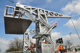 Nieuwe brug John Körmeling in Piushaven Tilburg