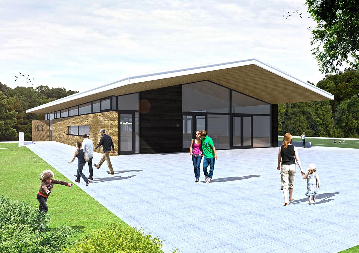 Clubhuis HCS door Architéma Architectuurstudio en ThijssenVerheijden Architecture & Management.