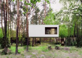Zwevend huis in Pools bos door Reform