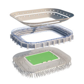 Modulair stadionconcept voor WK Voetbal Qatar 2022