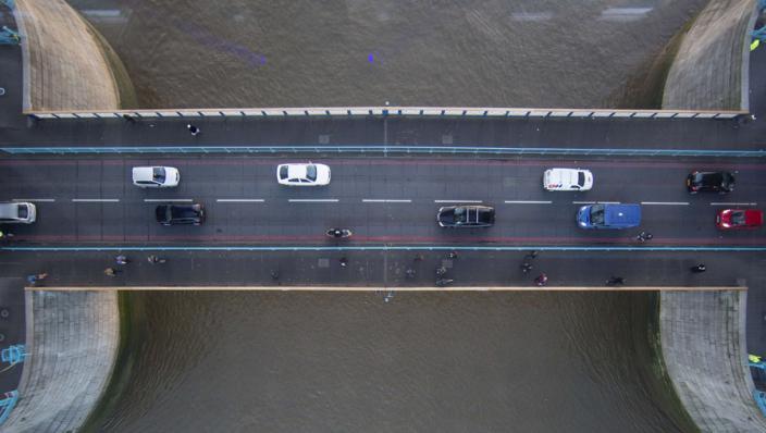 Glazen vloer Tower Bridge Londen
