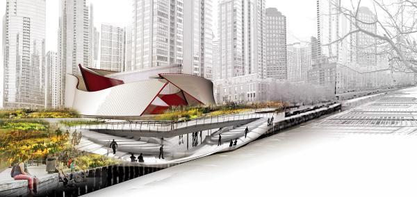 VOA Urban Island - Render Ster van de Week - Invulling Calatrava Chicago