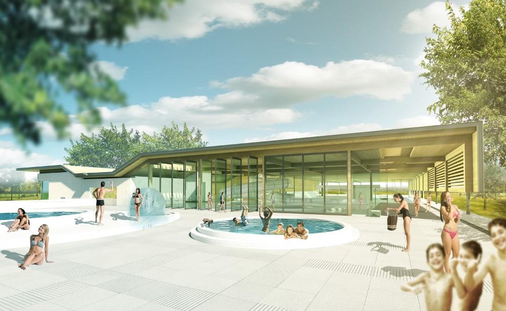Venhoevencs ontwerpt zwembad kampen de architect - Omgeving zwembad ontwerp ...