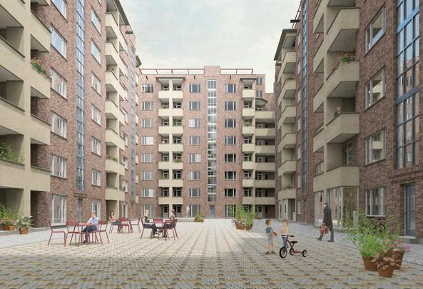 Fierensblokken architectenselectie Happel Cornelisse Verhoeven architecten en Molenaar & Co Architecten