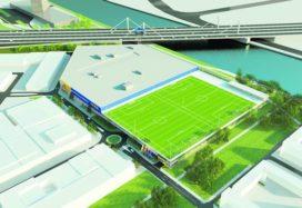 Voetbalveld dak Ikea Utrecht opgeleverd
