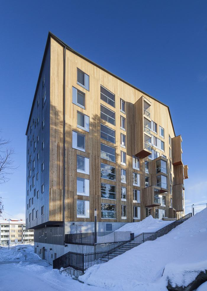 Puukuokka Housing Block, OOPEAA Architects, Photo: Mikko Auerniitty