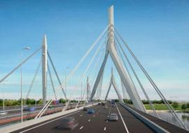 Nieuwe brug over Waal wordt ineengeschoven