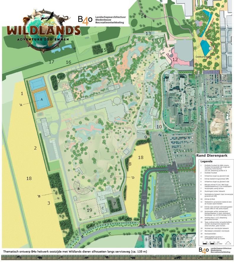 Ontwerpranden Wildland Adventure Zoo