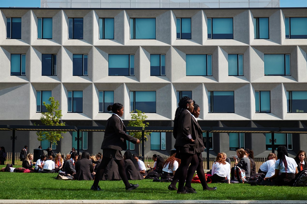 Burntwood School Wandworth door AHMM wint Stirling Prize 2015