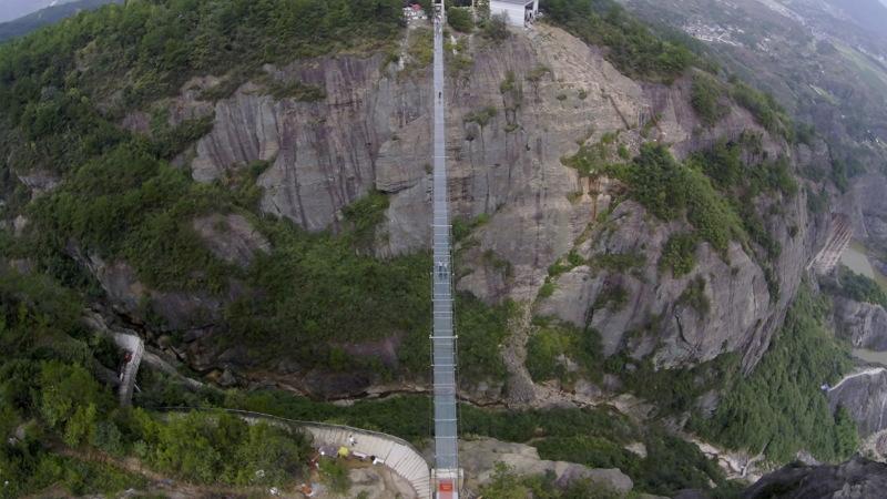 Glazen hangbrug China