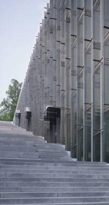 Ewha womans university campus center in seoul door dominique perrault 1 225x420
