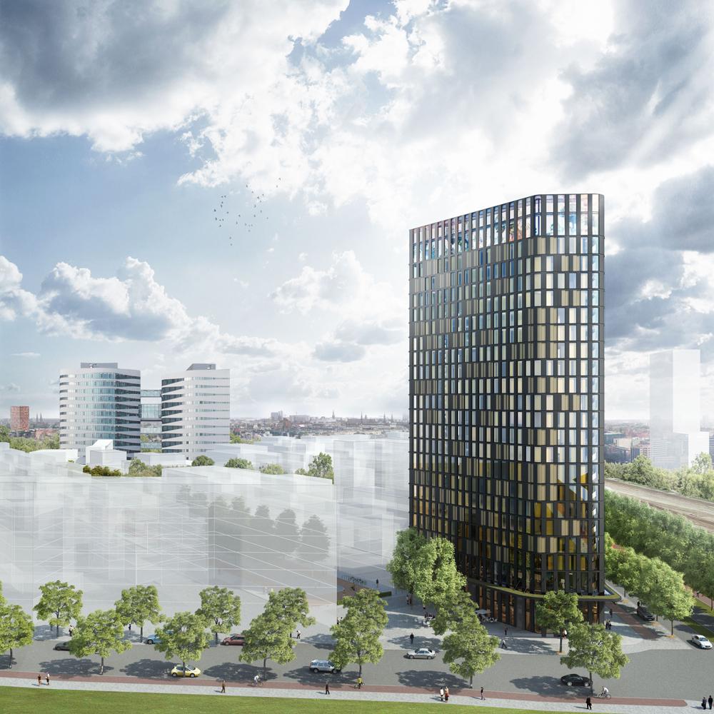 Hotel Amstelkwartier, een ontwerp van Mulderblauw architecten en Architectenbureau Paul de Ruiter