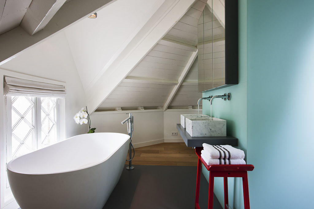Luxe bad en slaapkamer de architect - Glazen kamer bad ...