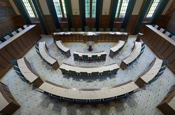 Nominatie arc16 interieur award raadzaal stadhuis rotterdam demunnik dejong architecten merk x 7 560x367