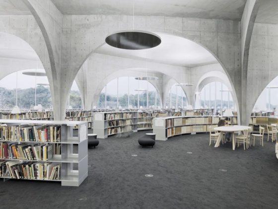 Tama art university library op de hachioji campus hachioji city tokyo door toyo ito 4 560x420