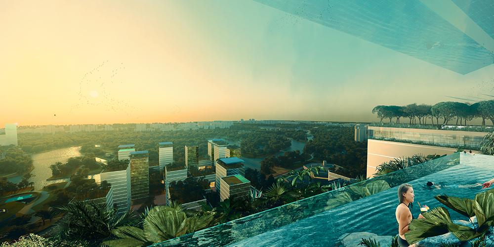 KCAP ontwerpt Singapore's Jurong Lake District