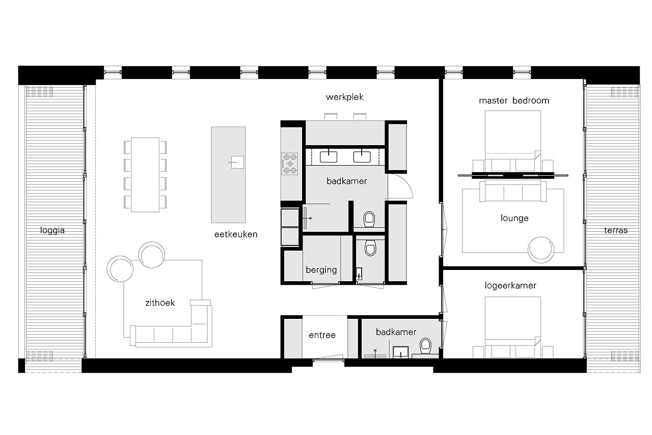 Interieur woning in patch22 bnla architecten de architect for Interieur ontwerp programma