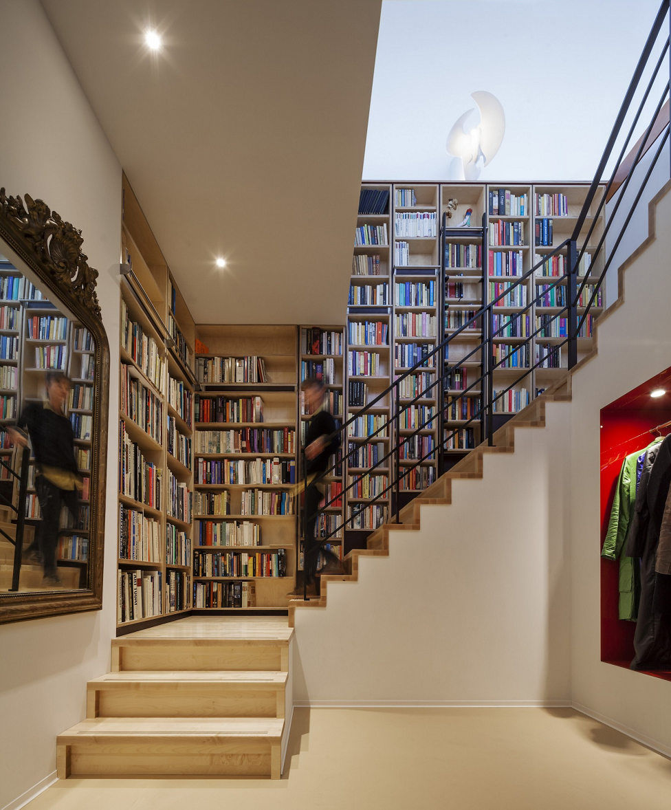 Verticale bibliotheek den haag de ontwerpwerkplaats de architect - Idee bibliotheek ...