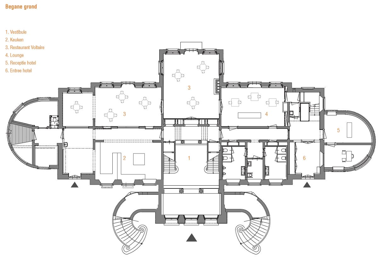plattegrond Landgoed Broekhuizen