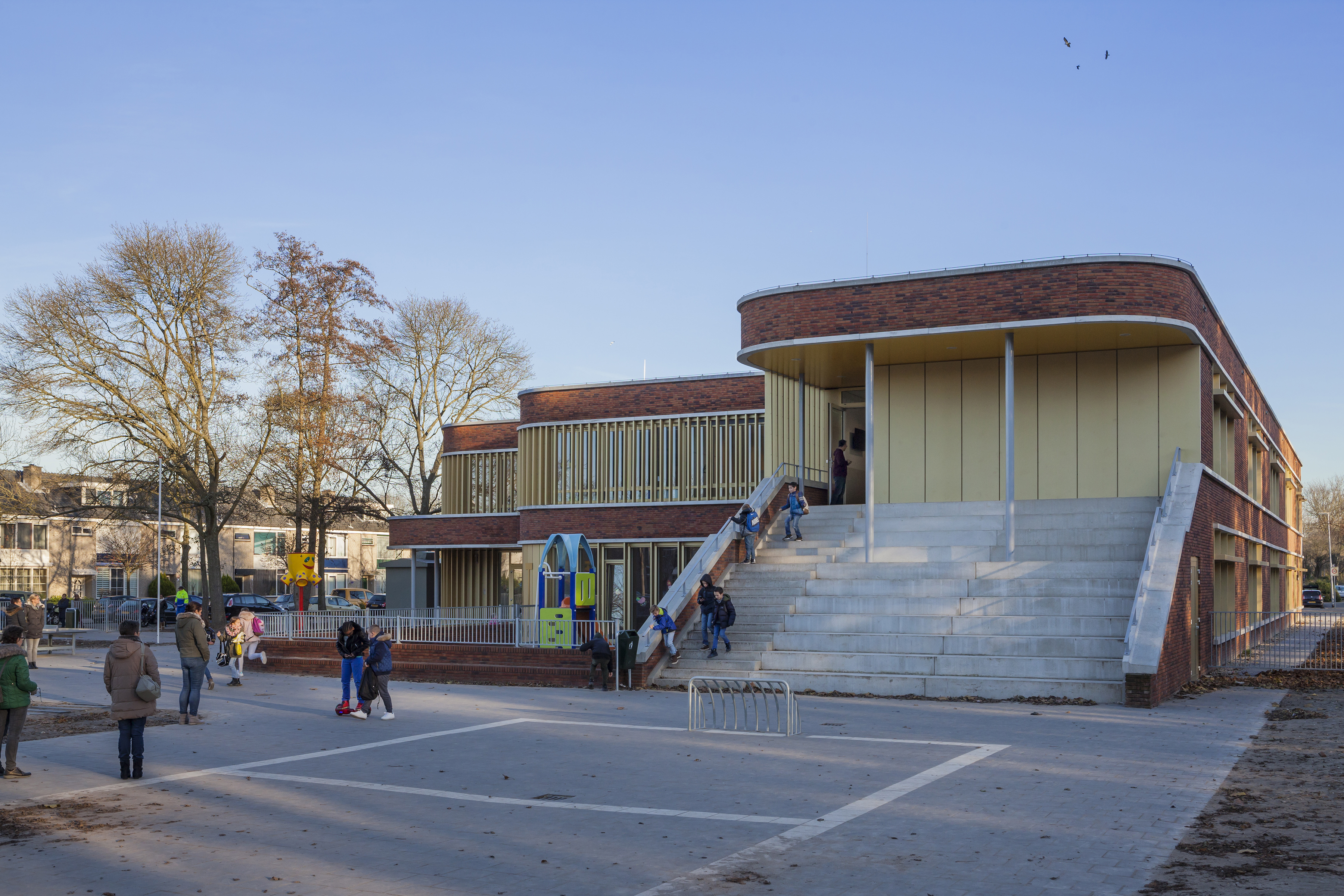 Diederen Dirrix, Zalmplaatschool, Hoogvliet, Rotterdam