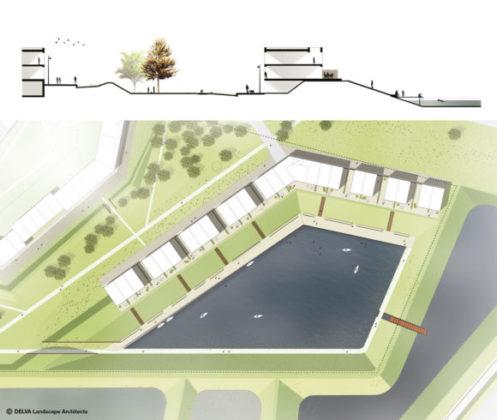 Delva landscape architects amsterdam steven delva ion veurne suikerpark plankaart detail dijkwoningen 580x490 497x420