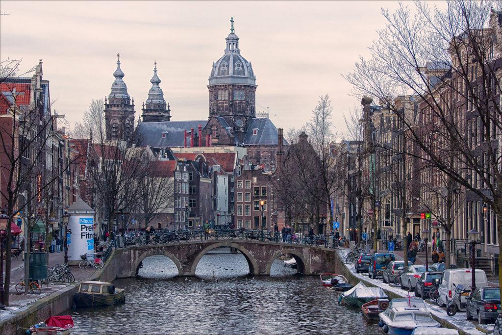 Het toeristische centrum van Amsterdam