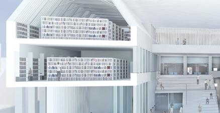 Impressie studiezaal en boeken bibliotheek UvA