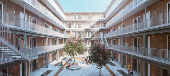 Houben van mierlo schubertsingel visualisatie exterieur binnenhof 560x251