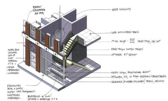 Attika emoticon facade design drawing 2 560x337