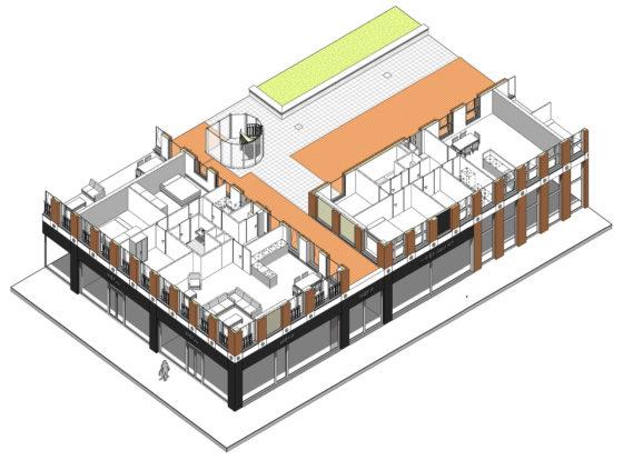 Attika emoticon facade design drawing 3 560x414