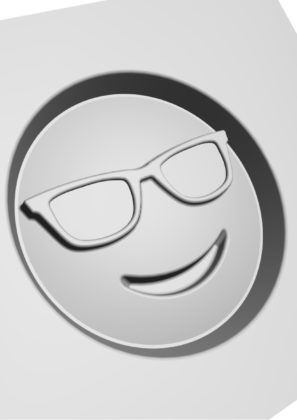 Cool emoji 3d model 297x420
