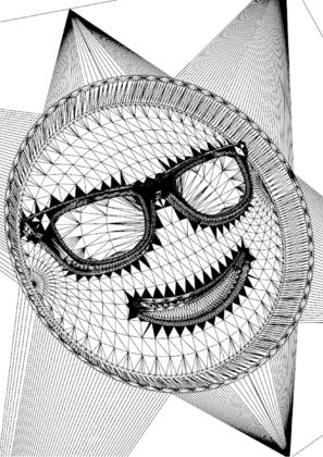 Cool emoji 3d model lines 297x420