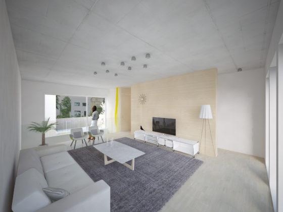 Interieur stadswoning type d   zitkamer 560x420