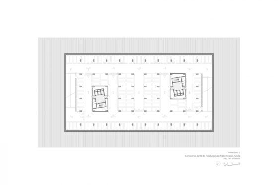 Oficinas consejerias jjaa sevilla dise%c3%b1o plano cruz y ortiz arquitectos cyo 09 planta sotano tipo 1300x864 560x372