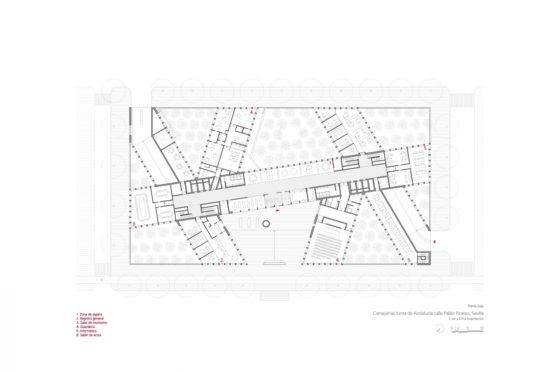 Oficinas consejerias jjaa sevilla dise%c3%b1o plano cruz y ortiz arquitectos cyo 10 planta baja 1300x864 560x372