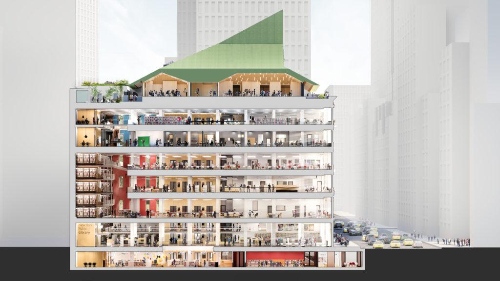 Mid-Manhattan bibliotheek Mecanoo