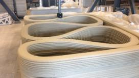 Betonnen fietsbrug rolt in Eindhoven uit de 3D printer