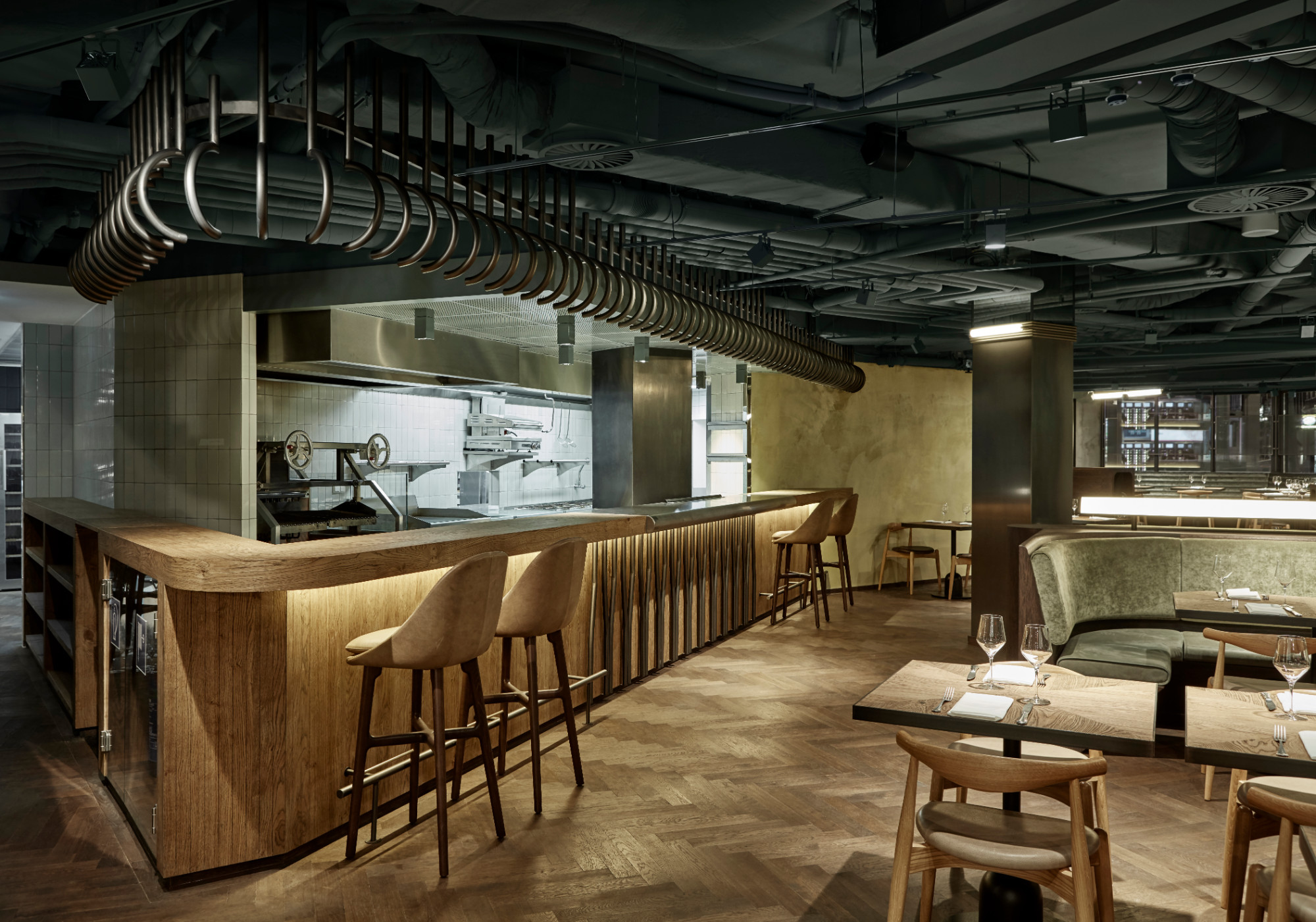 Weyers restaurant bar studio modijefsky de architect for Restaurant interior design app