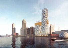 MVRDV ontwerpt 'jazzy' woontorens op Wilhelminapier Rotterdam