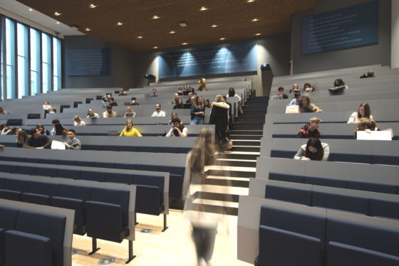 Campus den haag universiteit leiden ontwerp slt mmv left auditorium foto peter de ruig 4251 560x374