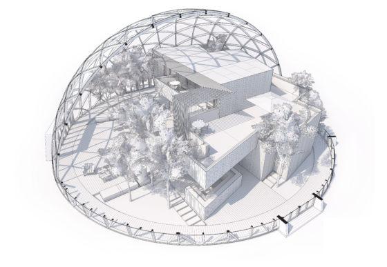 Dome of Visions, Aarhus, Denemarken Atelier Kristoffer Tejlgaard