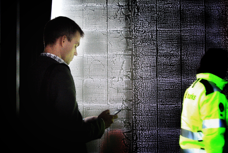 Voorbeeld van doorzichtig beton Foto door Gilbert de Nijs