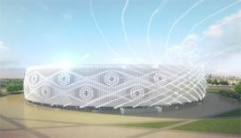 Video: Al Thumama Stadium in Qatar