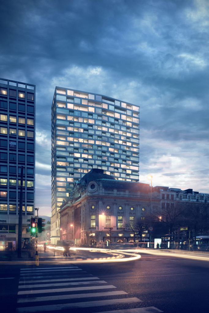 Antwerp-Tower-transformeert naar woontoren